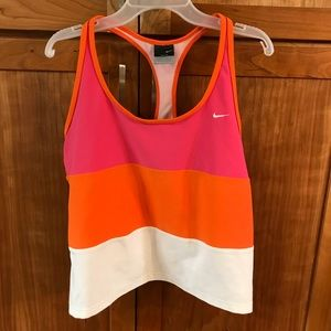 Nike women's razor back Multi colored Tank Top